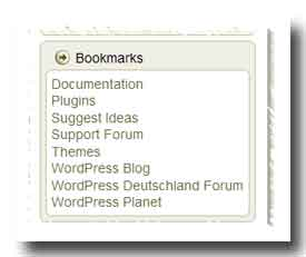 WP_de Standard-Bookmarks