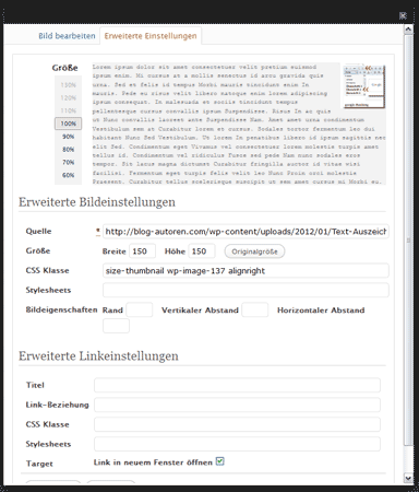 WordPress-Funktion: Bild in neuem Tab/Fenster ffnen