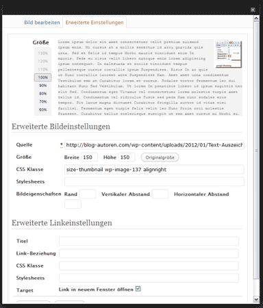 WordPress-Funktion: Bild in neuem Tab/Fenster öffnen