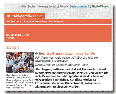 D-Radio: Rechtsextreme-bloggen