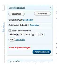 Sperrfrist + Texte mit WordPress geplant publizieren