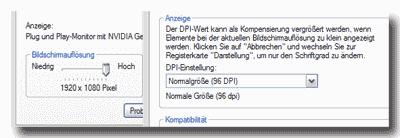 Webansicht am PC: Pixel + dpi